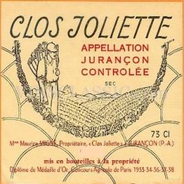Clos Joliette 1983 75cl AOC Jurançon sec