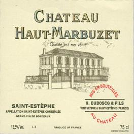 Haut Marbuzet 2016 Saint Estephe 75cl