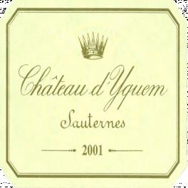 Yquem 2001 Sauternes 1st GCC Superieur 75cl