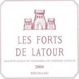 Forts de Latour 2004 Pauillac second vin de Latour 75cl